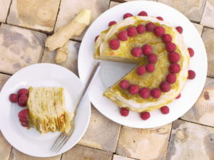 Green Crepe Cake